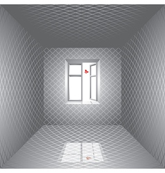 Room and butterfly vector