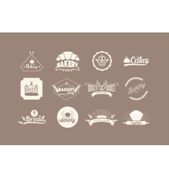 Set of bakery Logos vector image