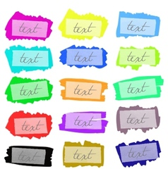 set painted frames vector image