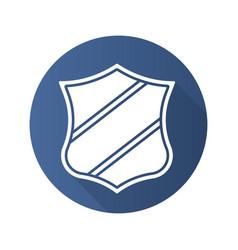 shield with ribbon badge vector image