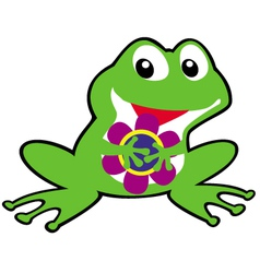 simple childish frog vector image