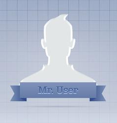 Social service user profile vector image