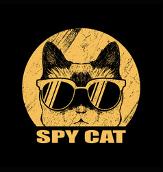 spy cat eyeglasses vector image