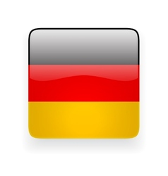 Square icon with flag of Germany vector image