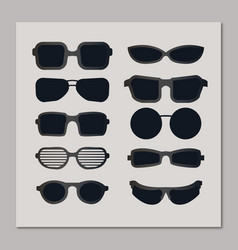 Sunglasses collection vector