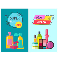 super price and best offer vector image