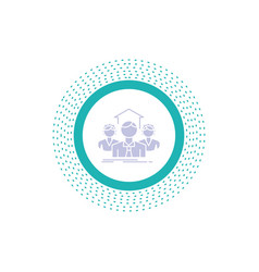 team business teamwork group meeting glyph icon vector image