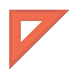 triangle ruler vector image