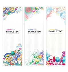 Web banners with floral vector