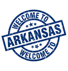 Welcome to arkansas blue stamp vector