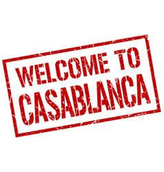 Welcome to casablanca stamp vector