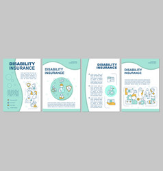 What is disability insurance brochure template vector
