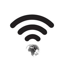 Wifi World Symbol vector image
