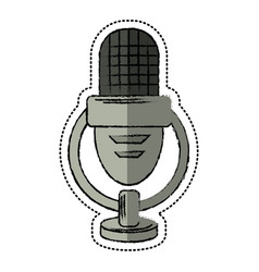 cartoon retro microphone voice vector image