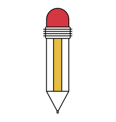 color sectors silhouette of pencil with eraser vector image vector image