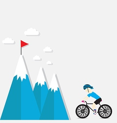 cycling on the mountain vector image
