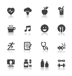 Health and Wellness Icons vector image