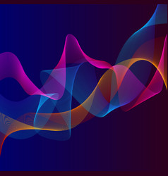 smoky waves background structural curved pattern vector image vector image