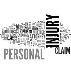 when you need a personal injury attorney text vector image vector image