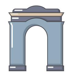 archway big icon cartoon style vector image vector image