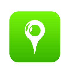 map pointer icon green vector image
