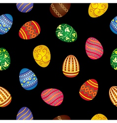 Pattern of Easter eggs vector image vector image