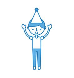 cute blueparty boy cartoon vector image