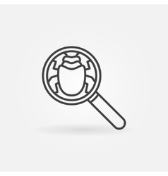 Find virus icon vector
