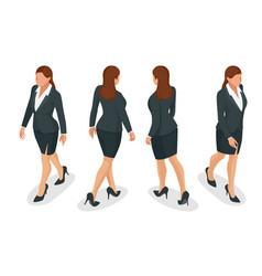 set of working elegant business women in formal vector image