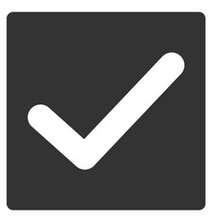 valid tick flat icon vector image vector image