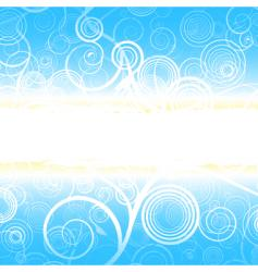 curly background with glowing stripe vector image vector image