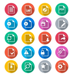 Document flat color icons vector image