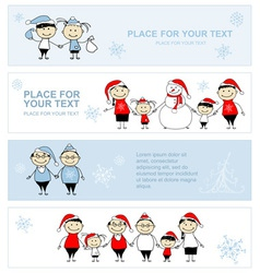 Happy family together christmas holiday banner vector image vector image