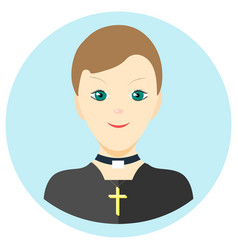 icon man priest in a flat style image on a vector image vector image