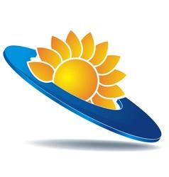 logo sun disc vector image