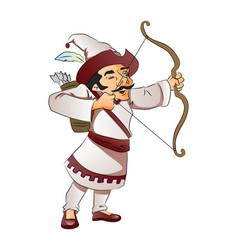 A man with bow and arrow vector