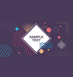 abstract background banner minimal design cover vector image