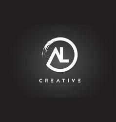 Al circular letter logo with circle brush design vector