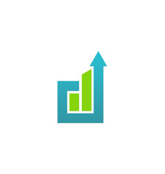 Arrow up business company logo vector