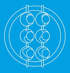 Asian shashlik icon outline style vector