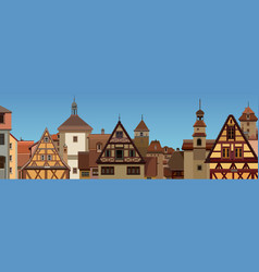 background a drawn european city vector image