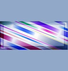 background with frame made colored lines vector image
