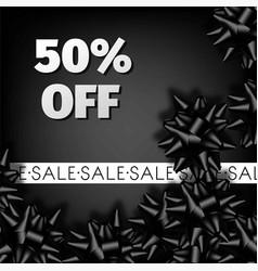 black friday sale discount promo fashion ribbon vector image