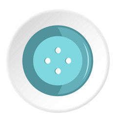 Blue clothing button icon circle vector