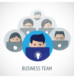 Business team emblem vector