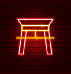Chinese arc neon sign vector