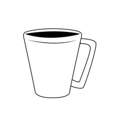 Coffee cup portable drink break icon vector