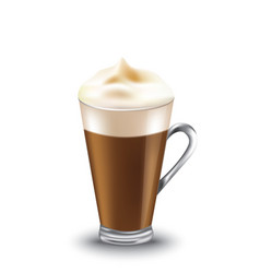 coffee glass with cream vector image