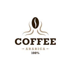 Coffee logo vintage design concept bean vector