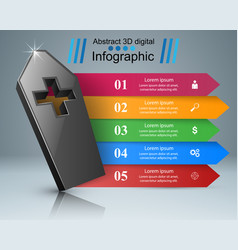 Coffin icon business infographics vector